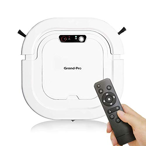 Grand-Pro A1 Schedule Cleaning Robot Vacuum, 130 min Runtime, Smart Sensor Protection System, Self-Charging Robotic Vacuum, Cleans Hard Floors Pet Hair, Square Design Will not let go of Every Corner.