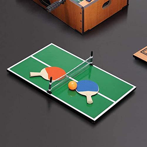 Mini Ping Pong Table Aus Holz,Bewerben Sie Sich Zu Hause, Im Flur, Wohnzimmer, Garten, Garage, Spielzimmer.90 x 40 x 20 cm,Gewicht Ca. 3 Kg,Produktmaterial Aus Holz