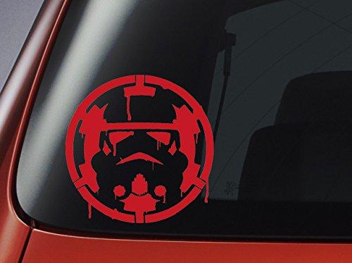 Rot Blut von Star Wars Stormtrooper Empire Logo Auto, Fenster, Wand, Laptop Aufkleber