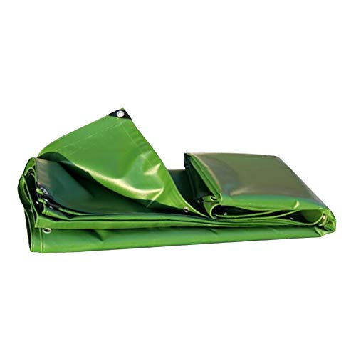 WYYY Plane Plane Grundblatt Abdeckungen Schuppentuch Regenfest Dick Doppelseitig Wasserdicht Anti-Aging-Foldable (Color : Green, Size : 2×2m)