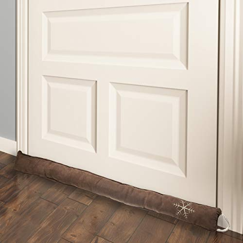"Simply Genius Door Draft Stopper 36"": Draft Guard, Draft Blocker for Interior, Bottom of Doors, Under Window, Garage, Fireplace, Energy Saver, Soundproof Room"