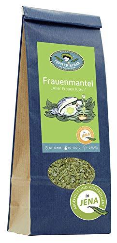 PEPPERMINTMAN Frauenmanteltee – Premium Frauenmantelkraut aus 100% naturbelassenem Anbau - schonend verarbeiteter Frauenmantel - Frauen Kräutertee 60g