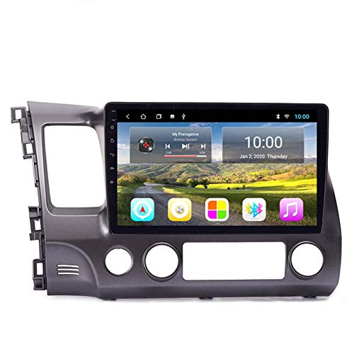 BBGG GPS 2G + 32GB Car GPS Image Car Navigation All-in-one Machine for 04-11 Honda Civic GPS Navigation, Voice Notification of Various Traffic Conditions, Free Map Update