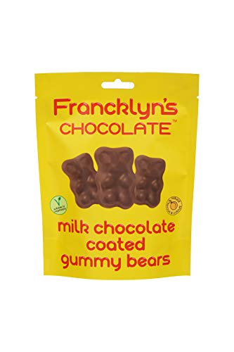 Francklyn's Chocolate Milk Chocolate Coated Gummy Bears, 120 g