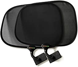 Emmzoe Clip On Sun Shade Baby Toddler UV 50+ Protection for Stroller, Car Seat, Table, Outdoors (2 Pack)