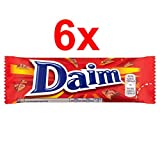 Daim - Barrita de chocolate con caramelo crujiente - 28 g - Pack de 6 unidades