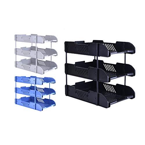 NYKK Schreibtisch-Organisator Kit, Schreibtisch-Speicher-Organisator-Anzeigen-Regal-Rack for Bürobedarf, Küche, Badezimmer (Color : D)