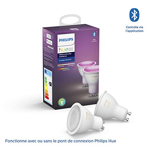 Philips Hue White and Color Ambiance GU10 LED-lamp dubbelpak 2 x 5,7 W Bluetooth