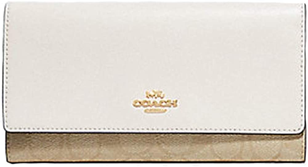 Coach Signature Leather Trifold ID Wallet Clutch - #F79868