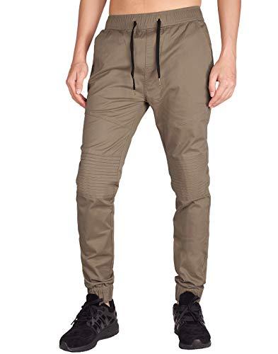 ITALY MORN Pantalón para Hombre Casual Chino Jogging Biker Algodón Slim Fit 20 Colores