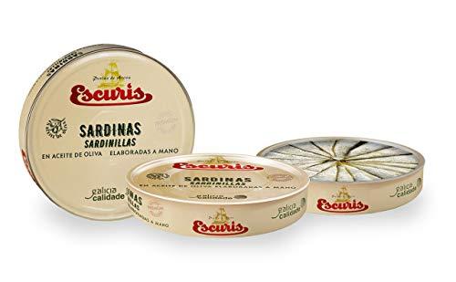 ESCURÍS. Sardinillas en Aceite de Oliva. Elaboración 100% artesanal. Preparadas