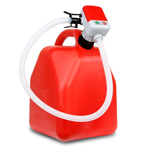 TERA PUMP Next Gen. Overflow Protection Gasoline Transfer Pump, Fueling Made Easy, 3.25 ft Long Hose, Liquid Transfer Pump fits Most Gas Cans at 2.4 GPM (Gas Diesel Keorsene & More)