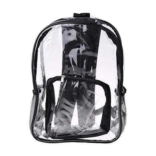 KunmniZ - Mochila transparente de PVC transparente para mujer, bolsa de hombro para la escuela, negro, azul (Multicolor) - 3TT900413-BK_SLHUK1001Darnassus