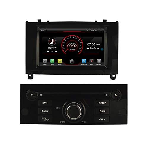 Autosion Android 10.0 - Reproductor de DVD para Coche, GPS, estéreo, Radio Navi, Multimedia, WiFi, para Peugeot 407 2004 2005 2006 2007 2008 2009 2010, Control de Volante, Color Negro