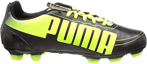 Puma Evospeed 5.2 FG Jr, Botas de fútbol Infantil, Negro-Schwarz (Black-Fluo Yellow 01), 38 EU