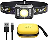 Etechydra Linterna Frontal LED USB Recargable, Linterna Cabeza Muy Brillante, 6 Modos de Luz, IPX4 Impermeable Mini Frontal LED para Correr, Acampar, Pescar, Ciclismo, Camping