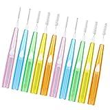 MILISTEN 60 Unidades de Cepillos Interdentales Cepillo de Mondadientes Push Pull entre Dientes Limpieza de Hilo Dental Limpieza de Cepillos para Cuidado Bucal