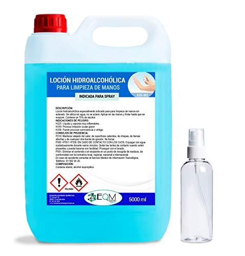 Ecosoluciones Químicas ECO- 901 | Loción Hidroalcohólica para manos | EFICACIA CERTIFICADA POR LABORATORIO | 70% alcohol garantizado | 5 L