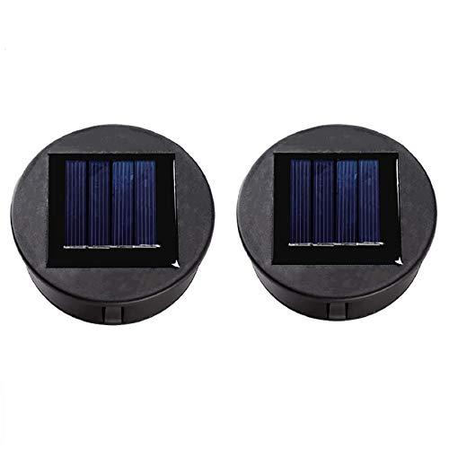 ANGMLN 2 Stück Solarzelle für Solarlampe Durchmesser Polykristallin vergossen, z.B. für Solarleuchte mit Akku u. LED Solar Lantern Outdoor Garden
