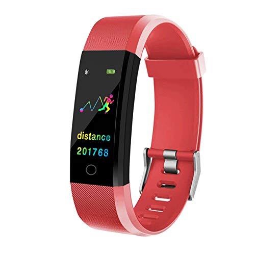 Sport En Vrije tijd Elektronische Armband, Smart Horloge Gezondheidsmonitor Hartslag/Bloeddruk/Stappenteller Bluetooth Waterdichte Sport Armband Mannen Mode, Rood