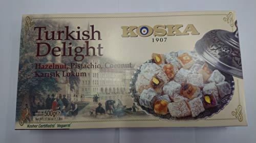 delizie turche Con nocciola, Pistacchio, noce di cocco 500 g
