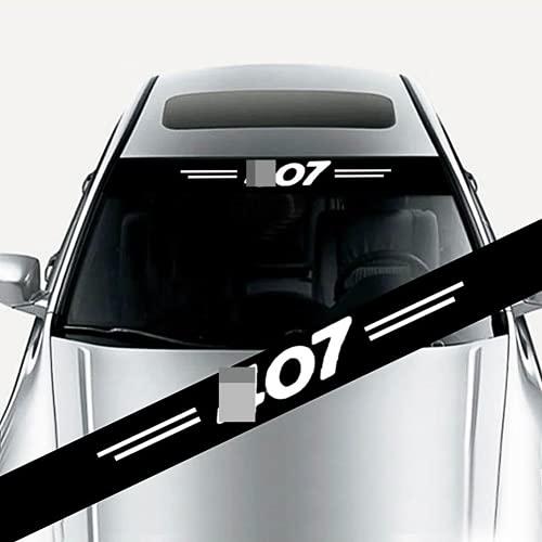 YANGSHENGL Etiqueta engomada del Coche, para Peugeot 407 Calcomanías de decoración Parabrisas Delantero y Trasero del Coche Previene el Reflejo de la luz Solar Accesorios de Estilo.