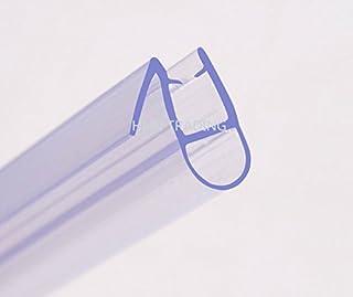 Tira de sellado de HNNHOME para mampara de ducha de 870 mm para cristal recto y curvado de 4-6 mm hasta 8 mm