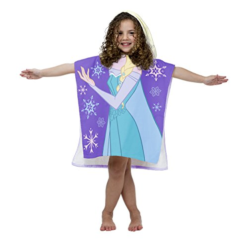Disney Frozen Princess Elsa Cotton Hooded Beach/Bath/Pool Poncho