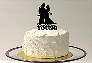 Personalized Fireman and Nurse Wedding Cake Topper, Nurse Hair Down, Fireman Nurse Wedding Cake Topper, Firefighter Topper