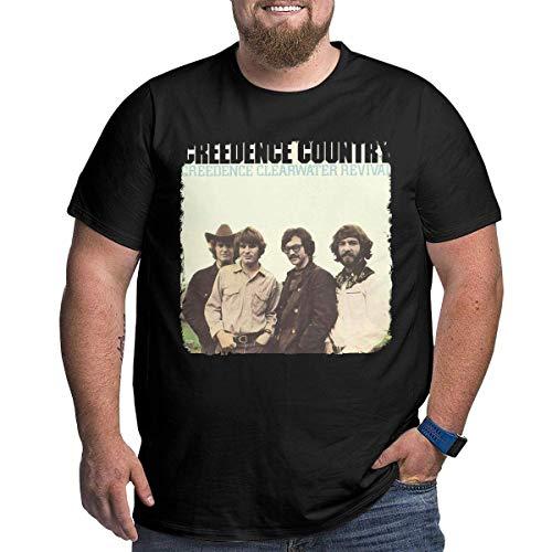 Sportswear heren shirt met korte mouwen, heren grote grootte Vintage Creedence Clearwater Revival T Shirt zwart