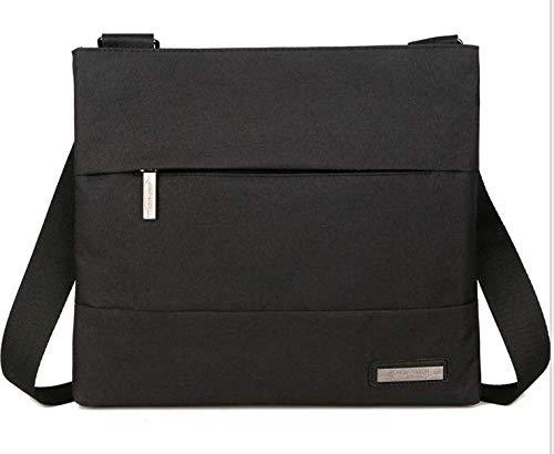 Outdoor Nylon Messenger Crossbody Shoulder Bags Case for iPad Air 10.5 / iPad Pro 11 / iPad 10.2 / Lenovo Tab P10 / Tab M10 10.1 / Tab E10 101. / IdeaPad D330 10.1 / Voyo i8 9. 7 Tablet (Black)