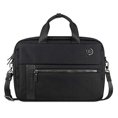 """Bugatti Nero Businesstasche für Herren mit 15"""" Laptopfach, Arbeitstasche Aktentasche Große Bürotasche, Schwarz"""