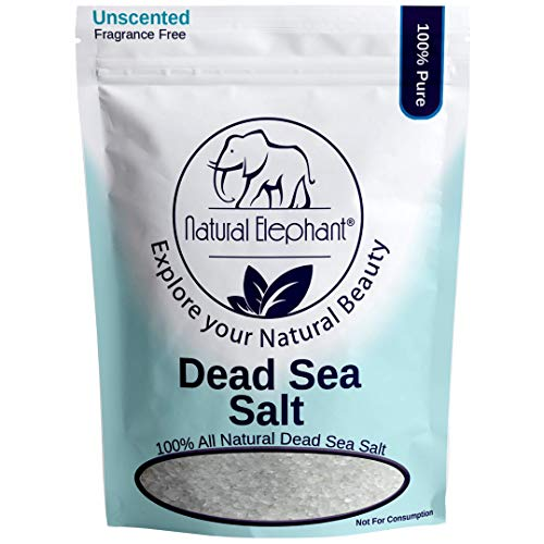 Dead Sea Salt Coarse Grain 10 lb (4.5 kg) by Natural Elephant 100% Natural & Pure for Psoriasis Eczema Acne & Other Dermatological Needs