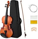 DEVICE OF URBAN INFOTECH 4/4 full size solid maple wooden violins musical instrument set with bow shoulder rest Violin Bridge Rosin & extra string vailin for beginners kids student & music classes