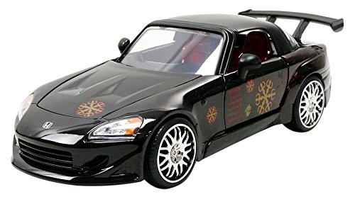 Jada Toys–S2000Fast And Furious Honda Veicolo in Miniatura, 99541bk, Nero, Scala 1/24