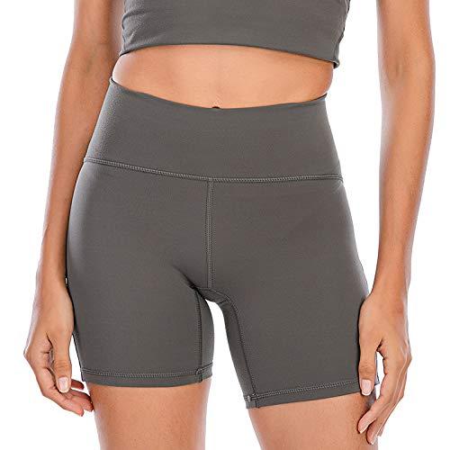 Yoga-Shorts Mit Hoher Taille Sport Leggings Versteckte Tasche Leicht Und Atmungsaktiv Schnelltrocknend Super Stretch Für Bewegung Und Tägliche Freizeit Für Frauen,H,M