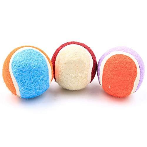Farbige Tennisbälle für Hunde, Haustier-Laufspielzeug für Hunde im Freien, Tennisspiel-Übungsbälle, extra federnd - ungiftig - langlebig - langlebig - schwimmt (3 Pcs)