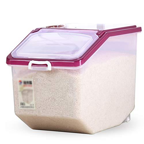 Unbekannt 10KG / 15KG/ 25KG Küche Aufbewahrungsbox Große Kapazität Wheeled Reis Barrel Mehl Barrel Sealed Crisper Pest-Proof und feuchtigkeitsfest