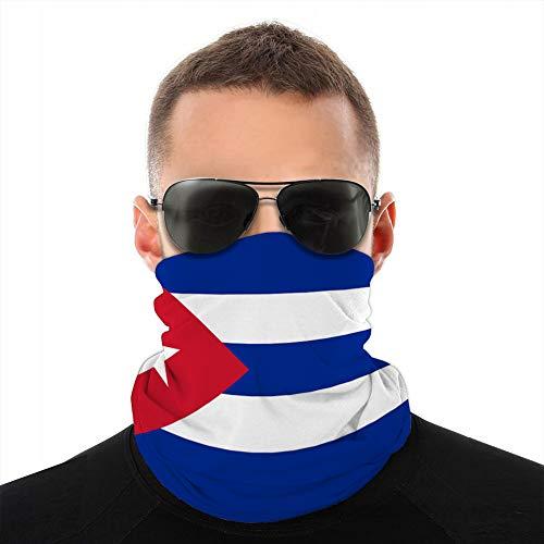 Xunulyn Cover Neck Gaiter Cover Headwear Sun Cover Headband Balaclava Cuba Flag Windproof Cover