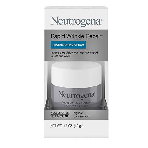 41oIAS5S1xL - Neutrogena Rapid Wrinkle Repair Retinol Regenerating Anti-Aging Face Cream & Hyaluronic Acid; Anti-Wrinkle Retinol Moisturizer & Neck Cream, with Hyaluronic Acid & Retinol, 1.7 oz
