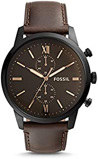 FOSSIL Townsman Chronograph Brown Leather Watch - FS5547