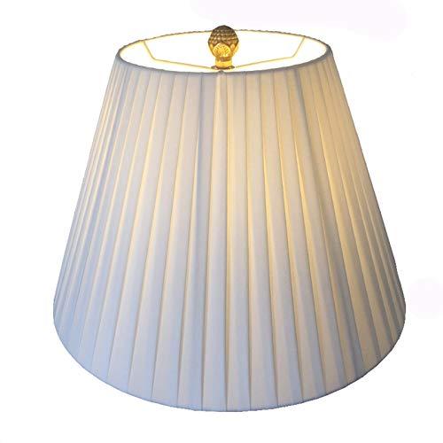 SAC d'épaule Pantalla de Tela Plisada, iluminación de árboles de Roble, Apto para lámpara de Mesa, lámpara de pie, lámpara de Noche,36CM