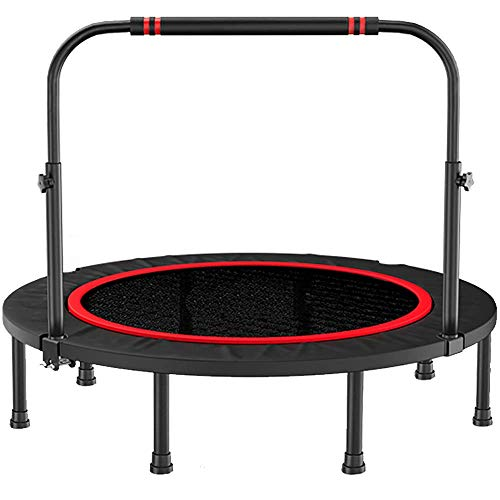 Yuany 40-inch mini-trampoline, opvouwbaar, volwassene fitness-oefening, dubbele armleuning in hoogte verstelbaar, belasting 300 Kg, Indoor fitnessapparatuur, 40 inch
