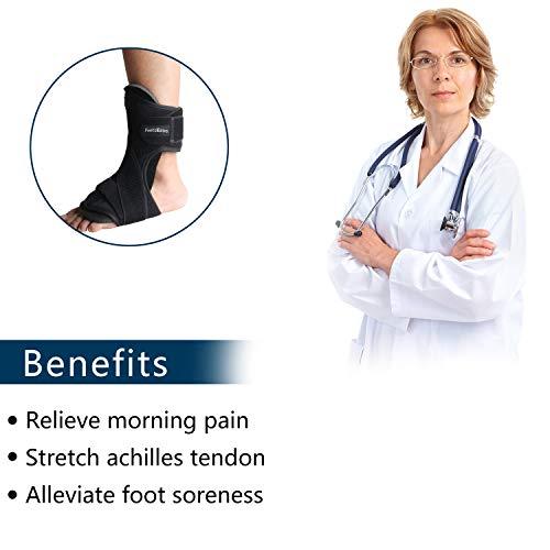 FeetsEase Plantar Fasciitis Night Splint and Support for Night Relief - Adjustable Dorsal Night Splint Foot Brace