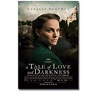 愛と闇の物語映画カバーポスターウォールアートプリントキャンバスホームリビングルームインテリアギフト-50x75cmフレームなし