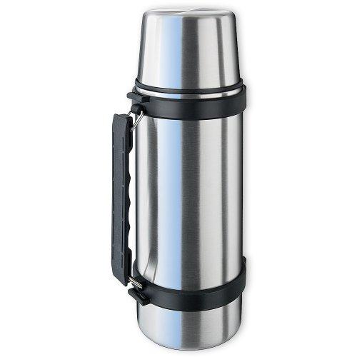 ISOSTEEL Isolierflasche Travel Quickstop, Silber