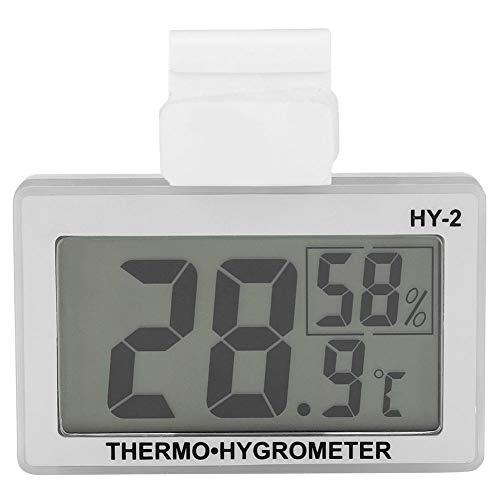 HERCHR Termómetro para refrigerador, Termómetro Digital Higrómetro Impermeable para congelador Enfriador de Vino Termómetro de habitación Interior Pantalla retroiluminada