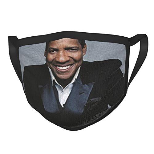 Denzel Washington Print Super Abstract Background Adult Black Border Mask