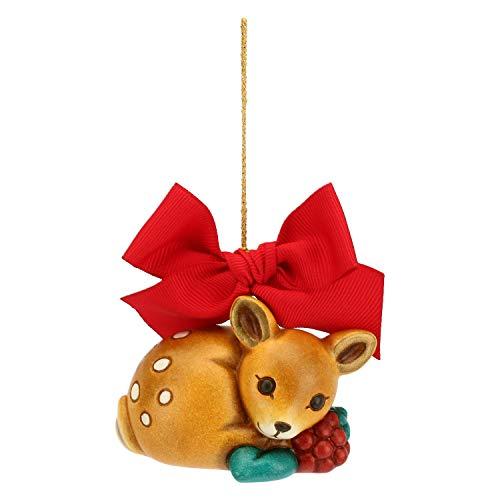 THUN ® - Addobbo per Albero di Natale cerbiatto Grande - Ceramica - h 5,2 cm - Linea I Classici
