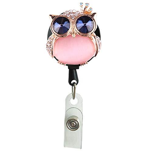 Owl Retractable Badge Reel ID Holder Name Nurse Badge Holder, Belt Clip (Owl)